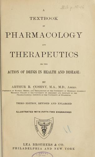 A textbook of pharmacology and therapeutics