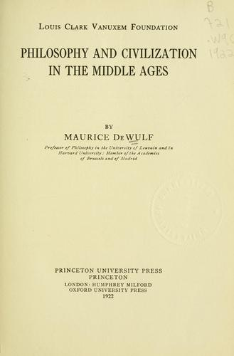 Download Philosophy and civilization in the Middle Ages