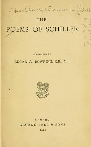 Download The poems of Schiller.