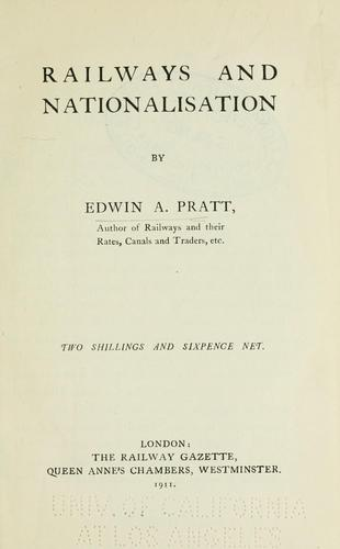 Download Railways and nationalisation
