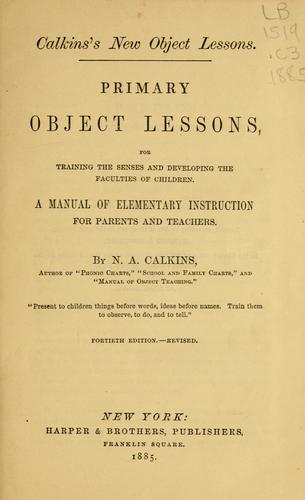 Download Primary object lessons