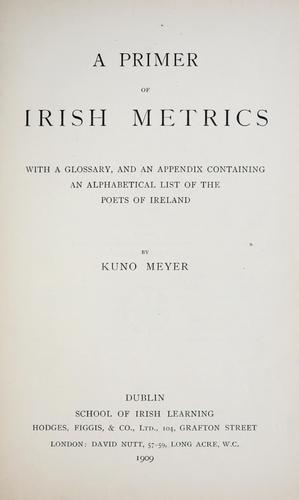 Download A primer of Irish metrics