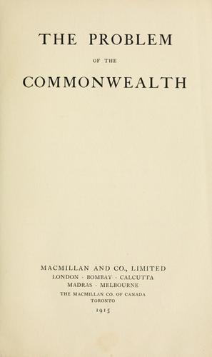 The problem of the Commonwealth.