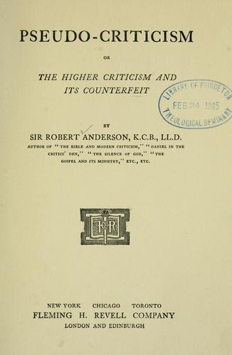 Pseudo-criticism