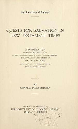 Download Quests for salvation in New Testament times