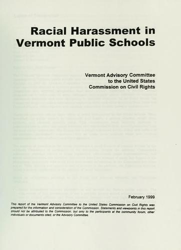 Racial harassment in Vermont public schools