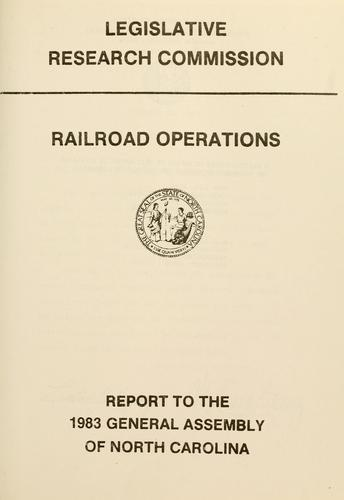 Download Railroad operations
