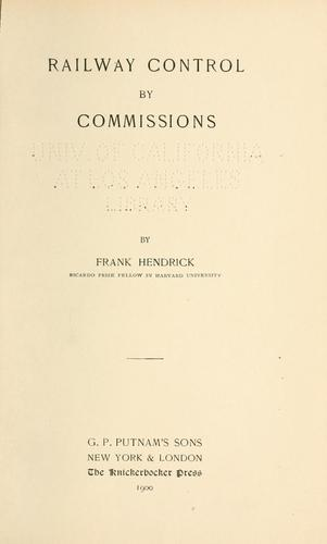 Railway control by commissions.