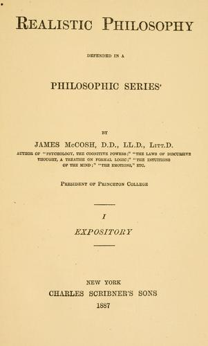 Realistic philosophy defended in a philosophic series