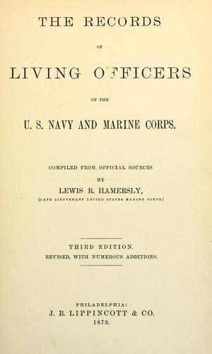 Download The records of living officers of the U.S. navy & Marine corps