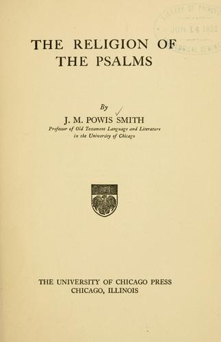 The religion of the Psalms.