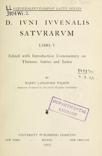 Saturarum libri V