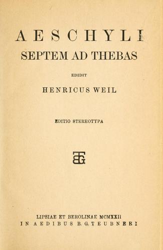 Septem ad Thebas.