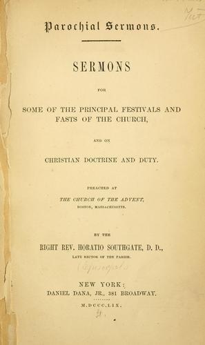 Download Sermons for some of the principal festivals and fasts of the church and on Christian doctrine and duty