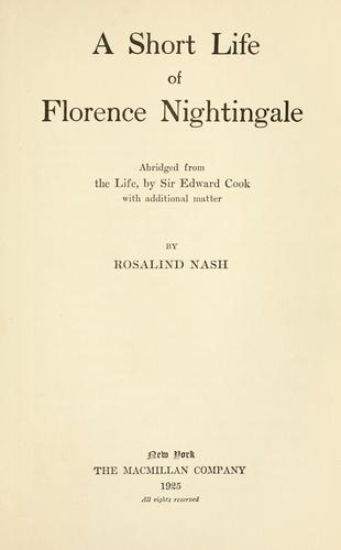 Download A short life of Florence Nightingale