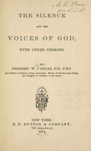 Download The silence and the voices of God