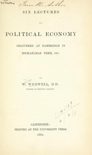 Download Six lectures on political economy.