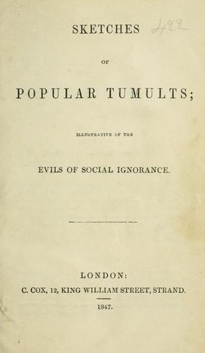 Sketches of popular tumults