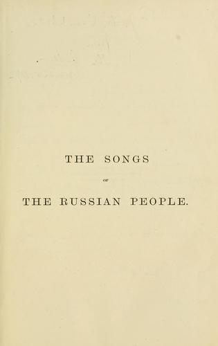 Download The songs of the Russian people