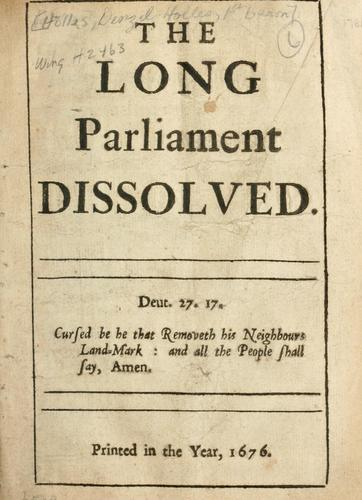Download The long Parliament dissolved.