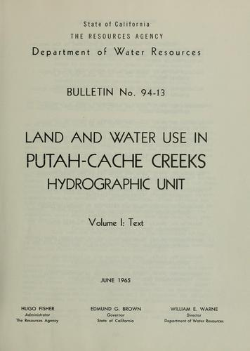 Download Land and water use in Putah-Cache Creeks hydrographic unit