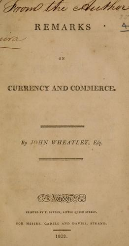 Download Remarks on currency and commerce