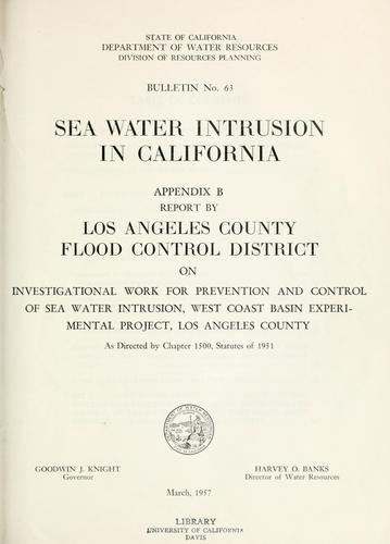 Sea-water intrusion in California