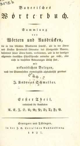 Bayerisches Wörterbuch.