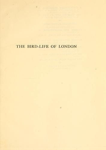 Download The bird-life of London