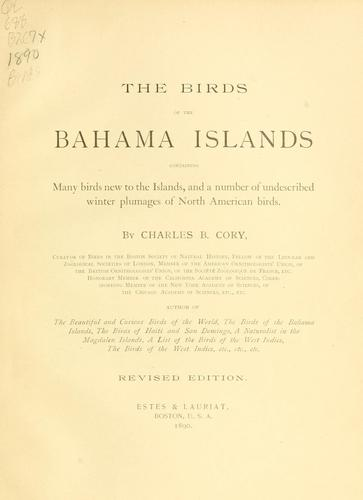 The birds of the Bahama Islands