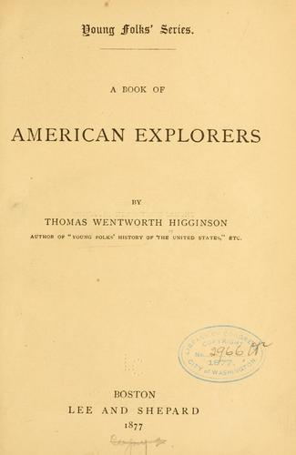 Download A book of American explorers