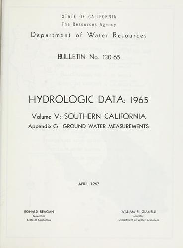 Download Hydrologic data, 1965.