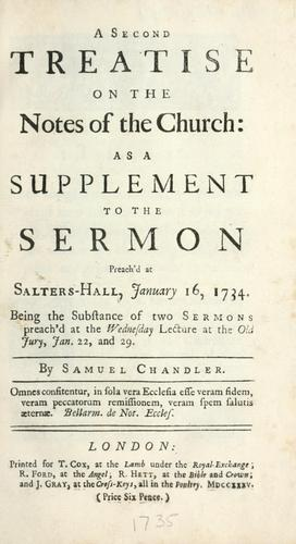 Download A second treatise on the notes of the church