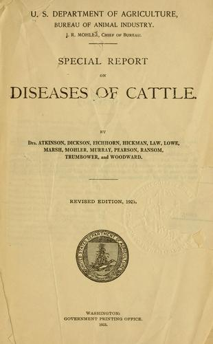 Download Special report on diseases of cattle.