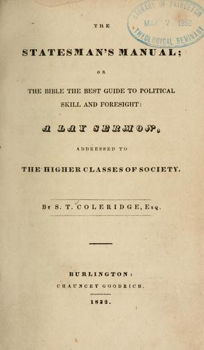The statesman's manual by Samuel Taylor Coleridge