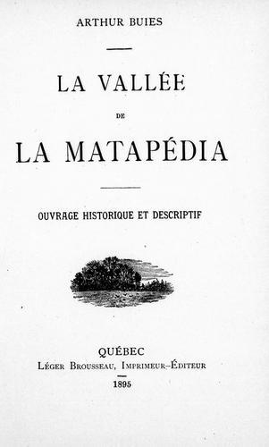 La vallée de la Matapédia
