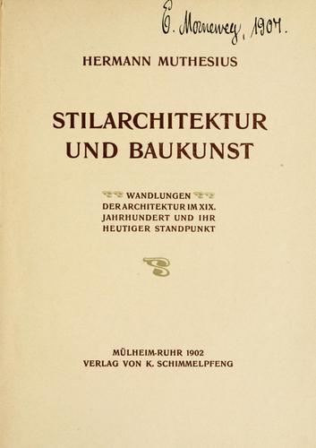 Download Stilarchitektur und Baukunst
