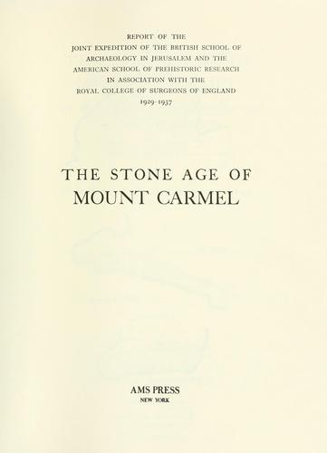 The stone age of Mount Carmel