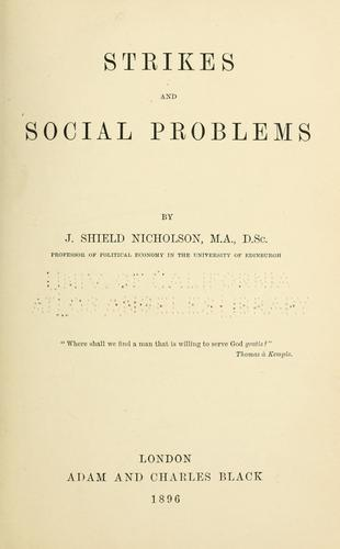 Download Strikes and social problems