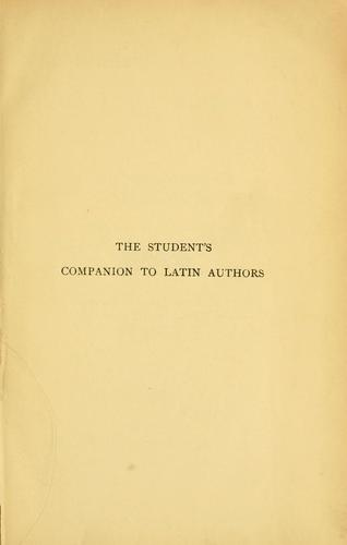 Download The student's companion to Latin authors