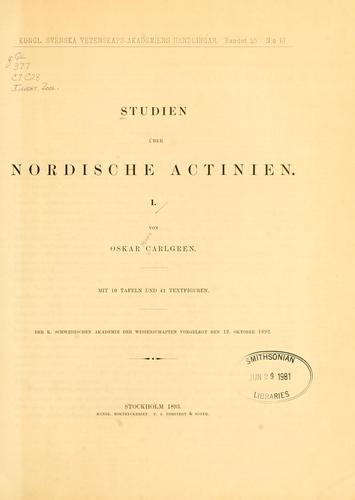 Studien über nordische Actinien I