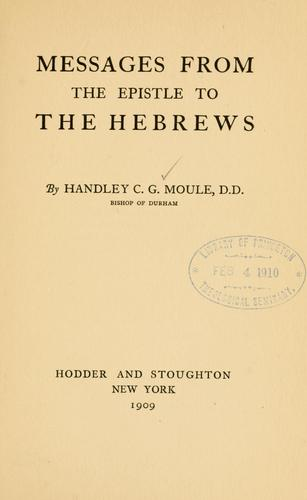 Studies in Hebrews