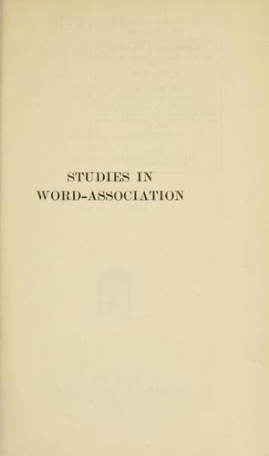 Download Studies in word-association