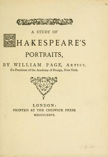 Download A study of Shakespeare's portraits