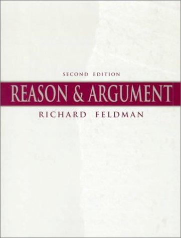 Reason and argument by Feldman, Richard