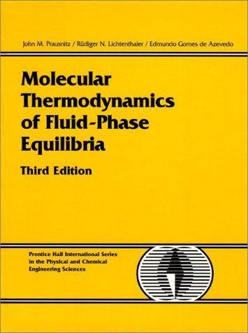 Molecular thermodynamics of fluid-phase equilibria.