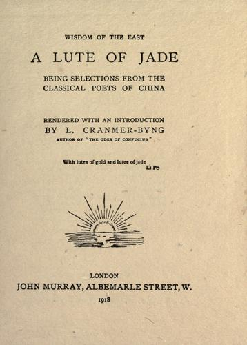Download A lute of jade