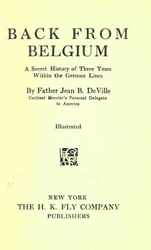Download Back from Belgium
