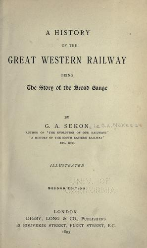 A history of the Great western railway