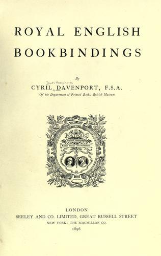 Royal English book bindings.
